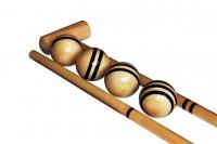 Крокетнй молоток и шары из берёзы